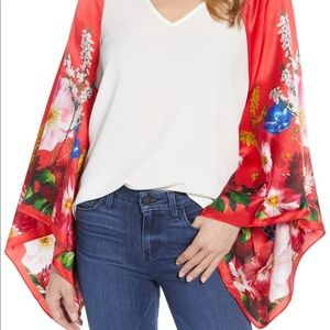 Red Ted Baker Drape Cape